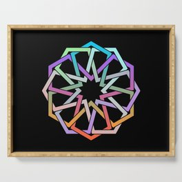Geometric Art - Hexagon Rose Serving Tray