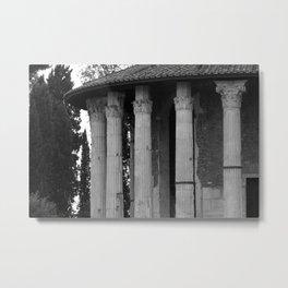 Temple of Vesta Rome Italy Metal Print