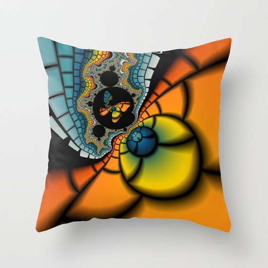 Fractal Cacoon Throw Pillow