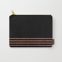 Black and Copper Stripes Carry-All Pouch
