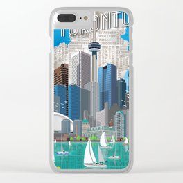 Toronto Skyline wide Clear iPhone Case