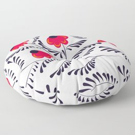 Beauty simple seamless floral pattern swirl Floor Pillow