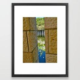 Through the Crack Framed Art Print