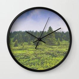Infinite forest landscape Wall Clock