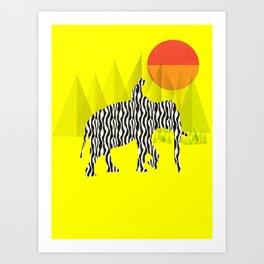 Zelephant - Mahout & Elephant Art Print