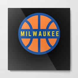 Milwaukee USA Basketball Metal Print