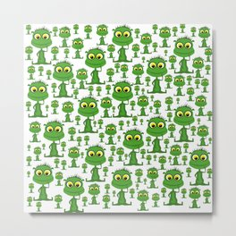 Population: Snood - Aliens - Outerspace - 57 Montgomery Ave Metal Print