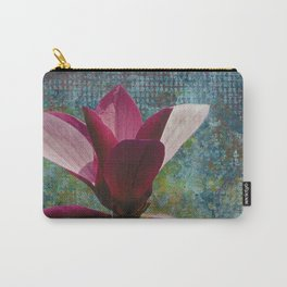 Magnolia on Blue Carry-All Pouch