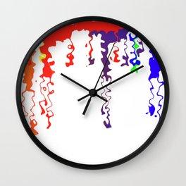 Rainbow Blood Wall Clock