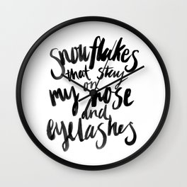 My Favourite Things - Snowflakes Wall Clock