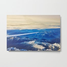 Airplane above the Clouds I Metal Print