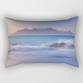 Sunrise over the Table Mountain and Cape Town from Blouwbergstrand Rectangular Pillow