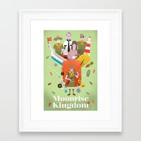 moonrise kingdom Framed Art Prints featuring Moonrise Kingdom by Wharton