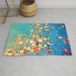 Sky and Leaves Rug