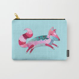 Pink & Blue Pastel Love FOX Carry-All Pouch