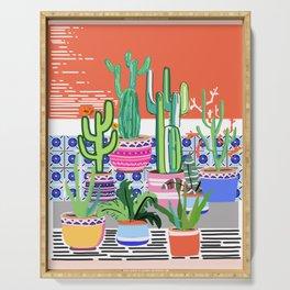 Cactus Window Serving Tray