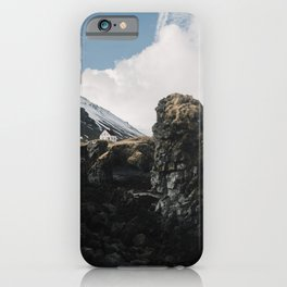 Cozy Mountain Cabin In Iceland - Landscape Photography iPhone Case