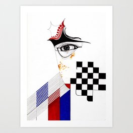 CHECKERS EYE Art Print