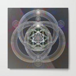 Spectrum Flow Merkaba Sacred Geometry Meditation Tapestry Print Metal Print
