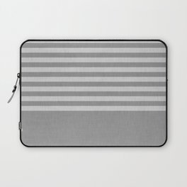 Gray color block and stripes Laptop Sleeve