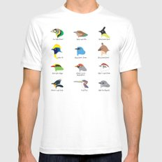 Montane Birds Series 1 White Mens Fitted Tee MEDIUM