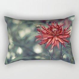 Red Dahlia No. 2 Rectangular Pillow