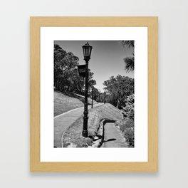 Garden Path Lighting Framed Art Print