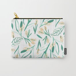 Mustard & Green Leaves Carry-All Pouch