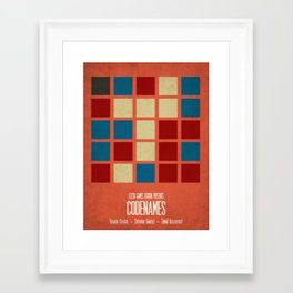 Codenames (Red) - Minimalist Board Games 05B Framed Art Print