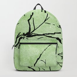 Two Leaves on Green Backpack