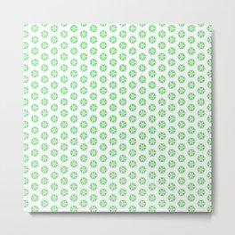 Hexagon Flowers 02 Metal Print