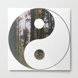 Yin Yang Forest Metal Print