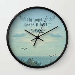 Fly togheter Wall Clock
