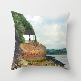 Dylan Thomas.The Boathouse. Throw Pillow