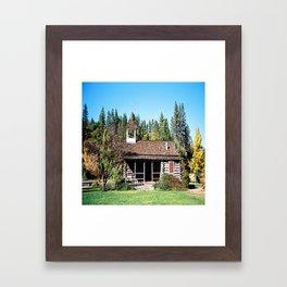 Historical Blanchard Flat Schoolhouse... Framed Art Print