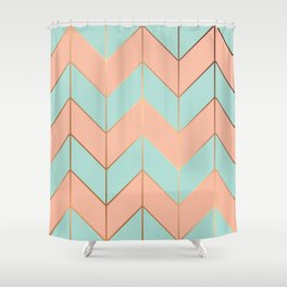 Marble Geometry 059 Shower Curtain