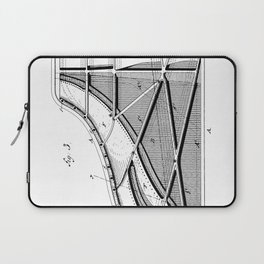 Steinway Piano Patent - Piano Player Art - Black And White Laptop Sleeve
