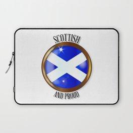 Scottish Proud Flag Button Laptop Sleeve