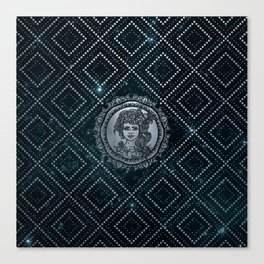 Virgo Zodiac Silver Embossed on the Star sky Canvas Print