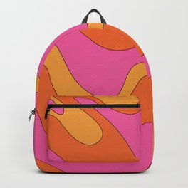 Groovy 60's and 70's Retro Pattern Backpack