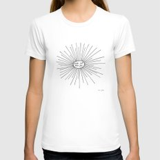 seek out the joy White Womens Fitted Tee MEDIUM