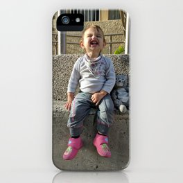 Kid and Friend iPhone Case