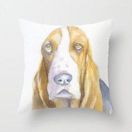 Bassett hound Throw Pillow