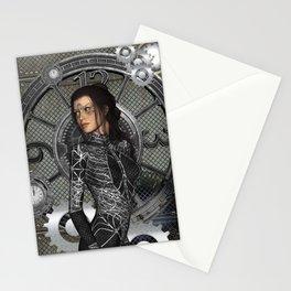 Steampunk, steampunk lady Stationery Cards