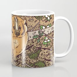 Badger & Bleeding Heart Coffee Mug