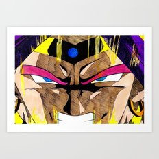 The Legendary Super Saiyan Art Print