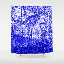 The Blue Forest Shower Curtain