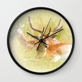 Deer at rest Wall Clock