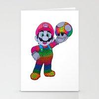mario bros Stationery Cards featuring Mario Bros by Luna Portnoi