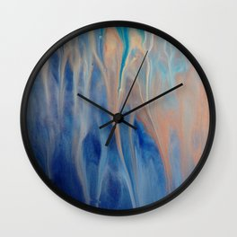 Sands of Time - Abstract Acrylic Art by Fluid Nature Wall Clock